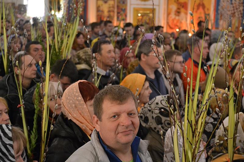 Праздничное богослужение в день праздника Входа Господня в Иерусалим. Нью-Йоркское благочиние