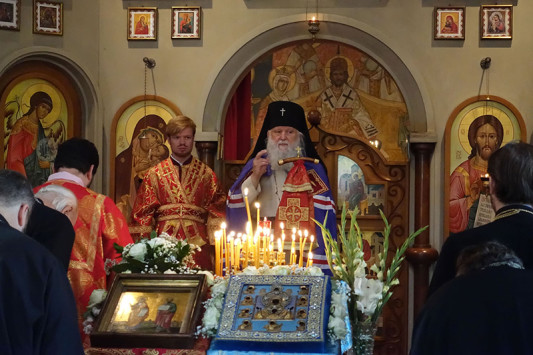 12 July, Luxembourg: Main shrine of ROCOR visited the church of Sts. Peter andPaul