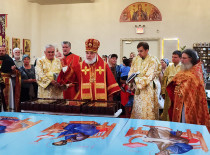 In the feast of Nativity of St John the Baptist 7 new icons were consecrated for the Cathedral of Brooklyn