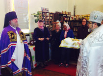 On the festive day of Ascension the Divine Liturgy in St. John Cathedral was headed by Bishop Jerome